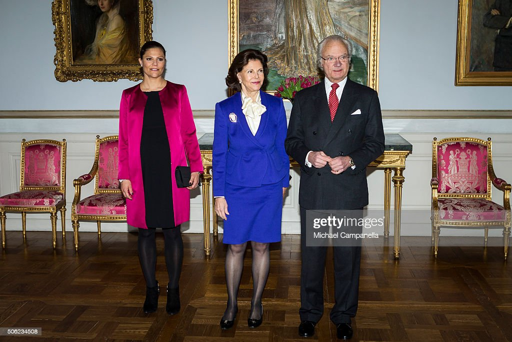 Swedish Royals Attend the Opening Of The Exhibition 'In Course of Time, 400 Years Of Royal Clocks' : News Photo