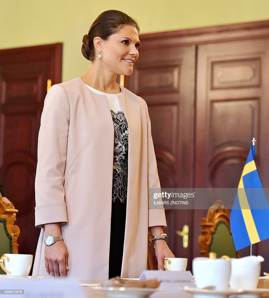 LATVIA-SWEDEN-DIPLOMACY-BERZINS-PRINCESS-VICTORIA : News Photo