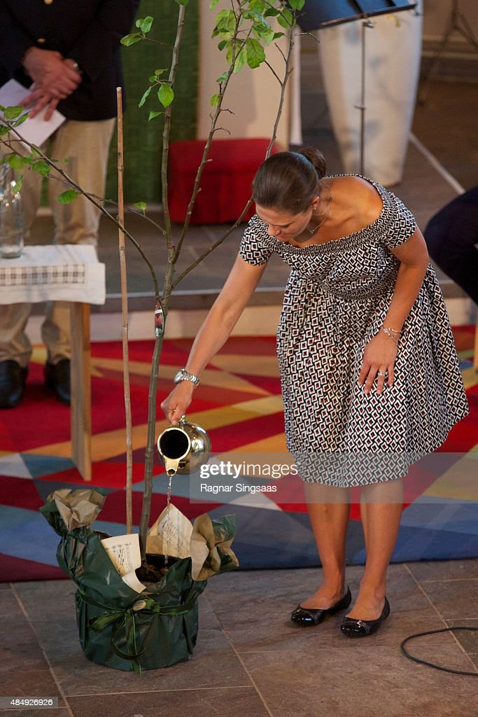 Crown Princess Victoria of Sweden takes Part in Climate Pilgrimage on August 22, 2015 in UNSPECIFIED, Unspecified.