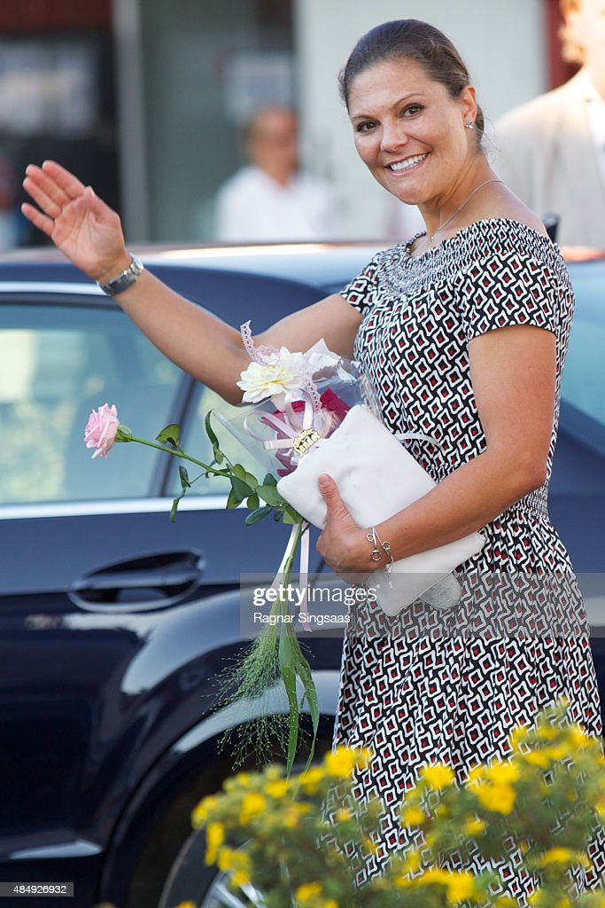 Crown Princess Victoria of Sweden takes Part in Climate Pilgrimage on August 22, 2015 in Stromstad, Sweden.