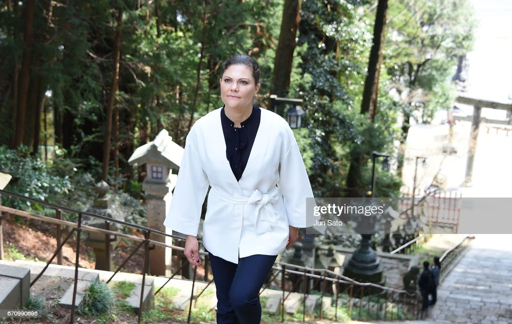 Crown Princess Victoria Of Sweden Visits Japan - Day 4 : News Photo