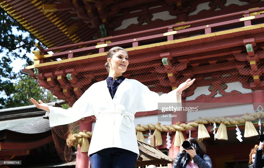 Crown Princess Victoria Of Sweden Visits Japan - Day 4