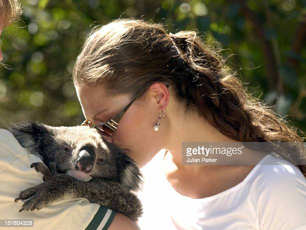 Crown Princess Victoria Of Sweden Visits The Healsville Wildlife Sanctuary, Near Melbourne, Where She Met A Koala & A Wombat - During Her Visit...