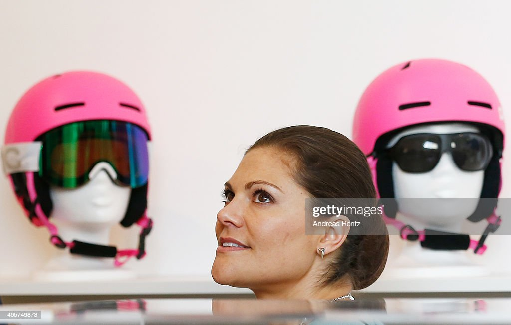 Crown Princess Victoria of Sweden visits the Red dot design Museum on January 29, 2014 in Essen, Germany.