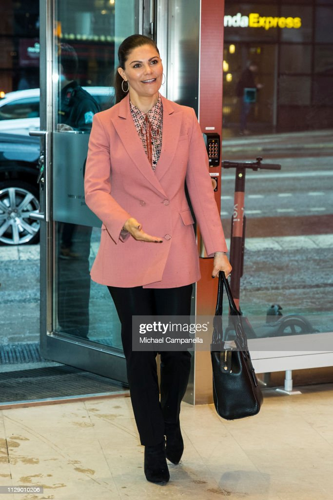 Crown Princess Victoria Of Sweden Visits Google Sweden : News Photo