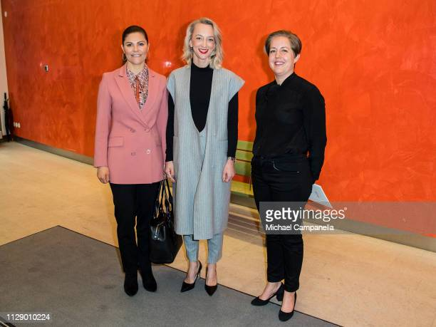 Crown Princess Victoria Of Sweden visits the Swedish office's of Google on March 7 2019 in Stockholm Sweden