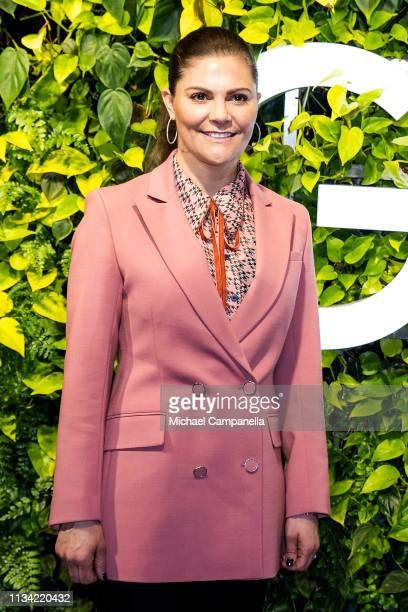 Crown Princess Victoria Of Sweden visits the Swedish office's of Google on March 7, 2019 in Stockholm, Sweden.