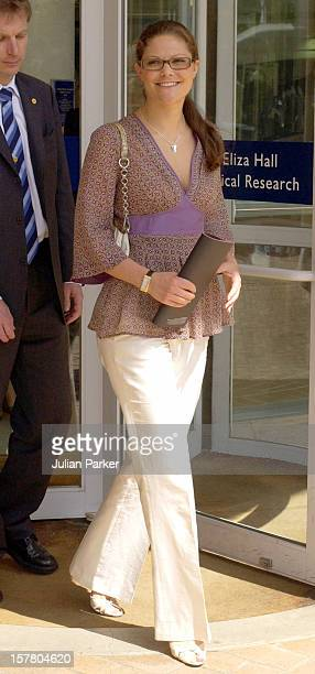 Crown Princess Victoria Of Sweden Visits The Walter Eliza Institute Of Medical Research In Melbourne During Her Visit To Promote 'Swedish Style In...