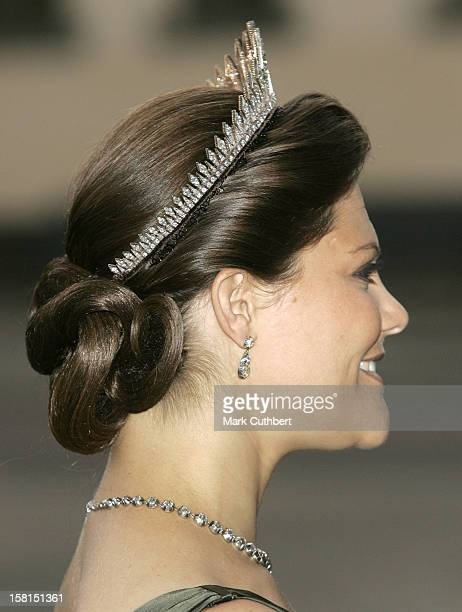 Crown Princess Victoria Of Sweden-Return Dinner At Malmo Town Hall In Sweden During The Swedish State Visit To Denmark. .