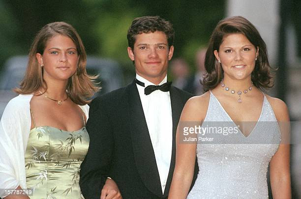Crown Princess Victoria Princess Madeleine Prince Carl Philip Of Sweden Attend A Gala At Bridgewater House Prior To The Wedding Of Princess Alexia Of...
