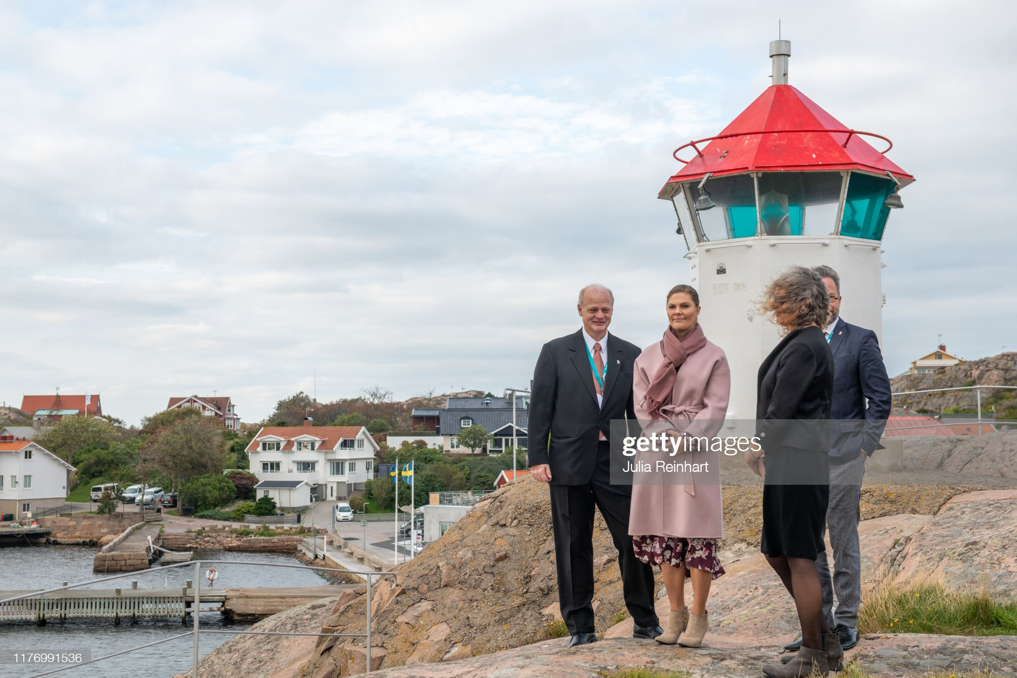 crown-princess-victoria-takes-in-the-scenery-of-lysekil-bay-during-picture-id1176991536