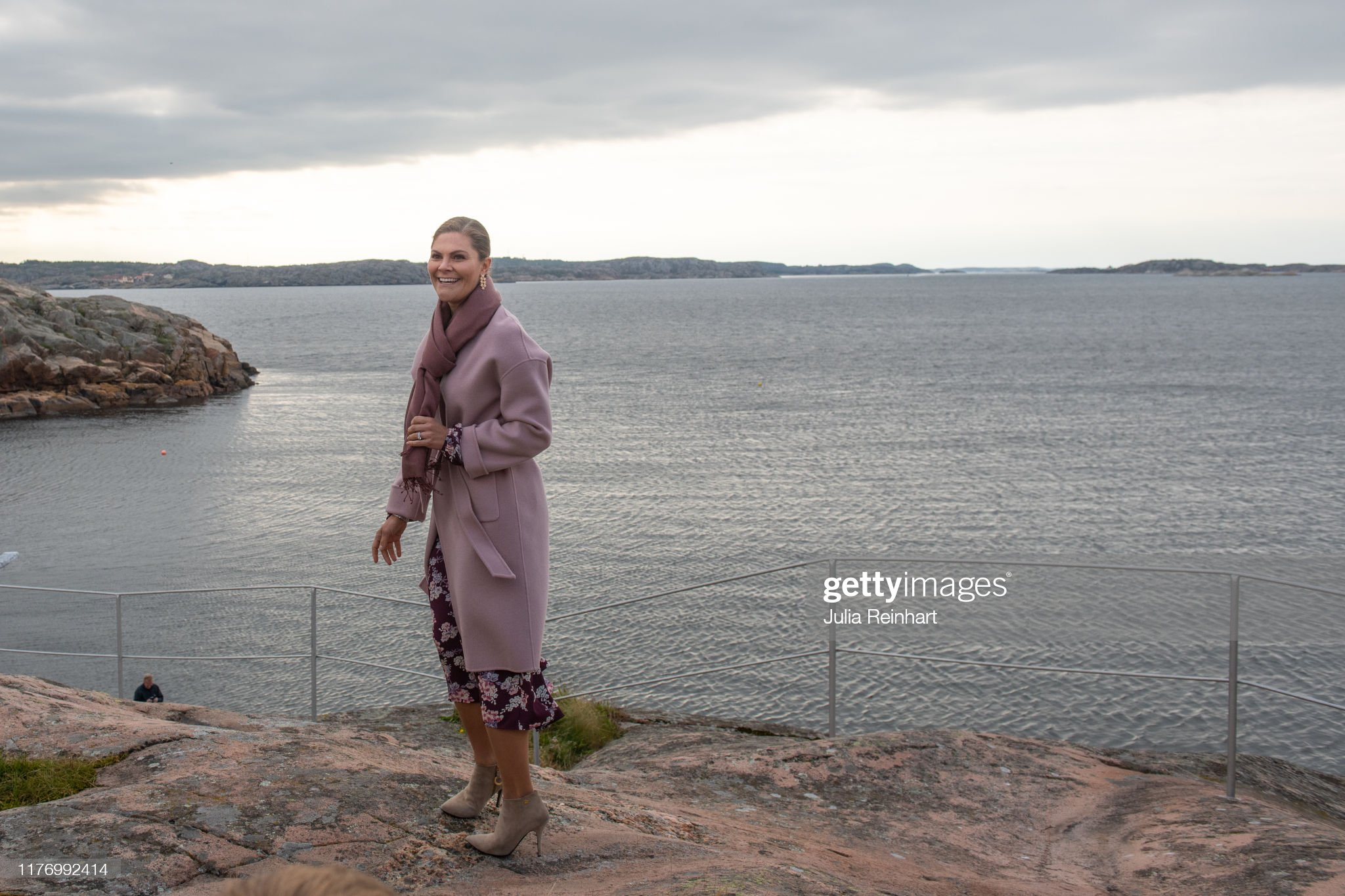 crown-princess-victoria-takes-in-the-scenery-of-lysekil-bay-during-picture-id1176992414