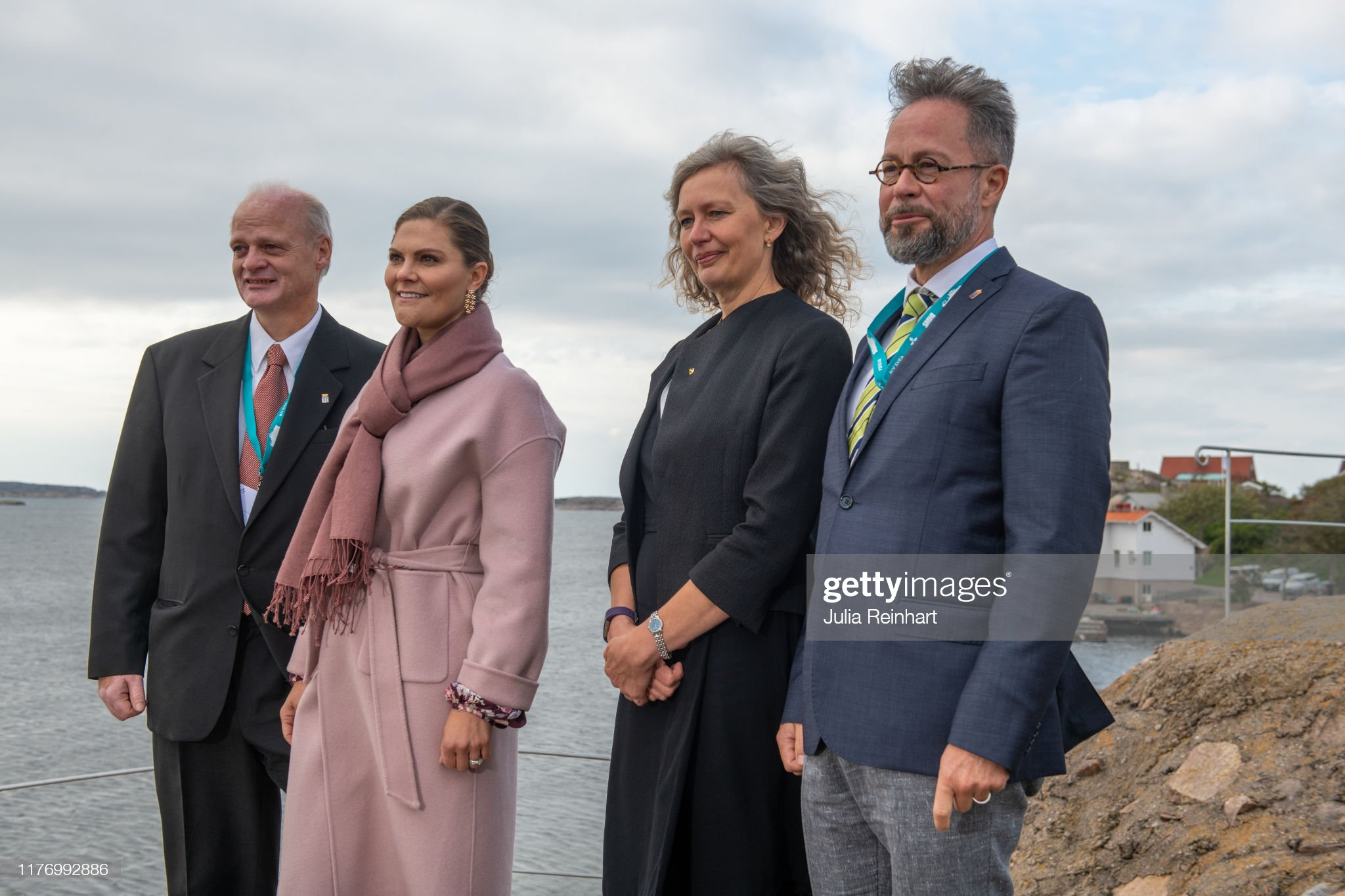 crown-princess-victoria-takes-in-the-scenery-of-lysekil-bay-during-picture-id1176992886