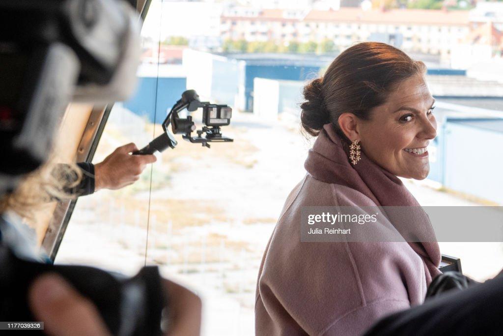 Crown Princess Victoria Of Sweden Visits SLU's Sea Fish Laboratory In Lysekil : News Photo