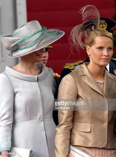 Crown Princesses Mettemarit Of Norway And Crown Princess Maxima Of The Netherlands At The Spanish Royal Wedding