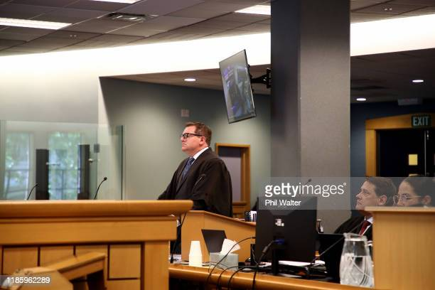 Crown prosecutor Robin McCoubrey speaks during the Grace Millane trial at the Auckland High Court on November 07 2019 in Auckland New Zealand A 27...