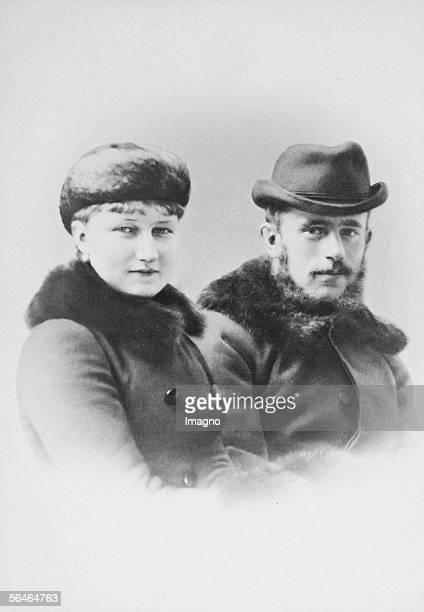 Crowne prince Rudolf and his wife Photography by C Pietzner [Kronprinz Rudolf mit Gemahlin Photographie von C Pietzner]