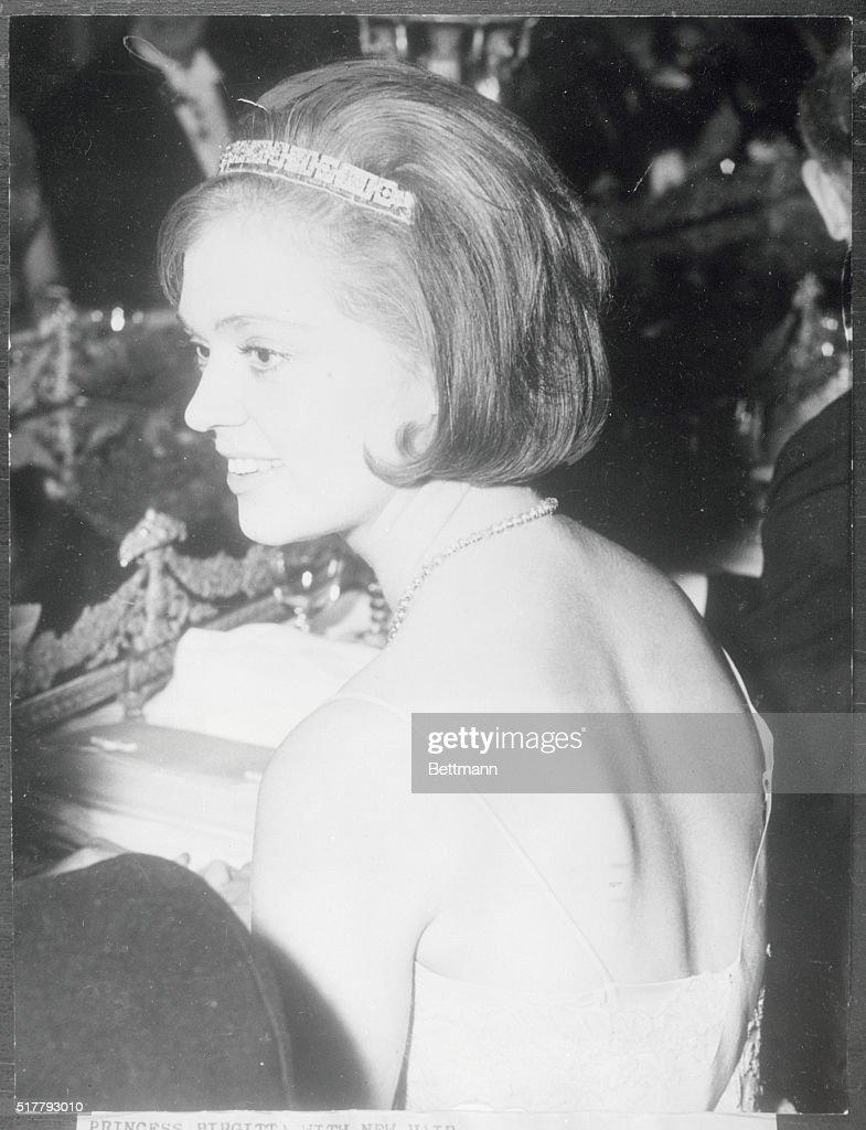 Princess Birgitta Wearing a New Hairdo : News Photo
