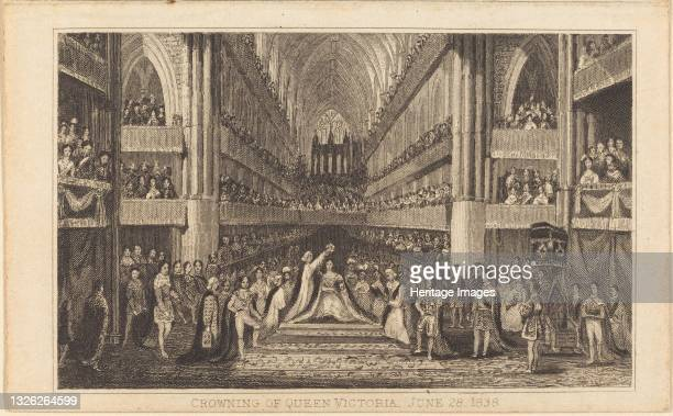 Crowning of Queen Victoria, June 28, 1838 [right half], 19th century. Artist Unknown.