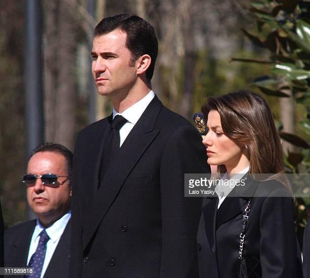 CrownPrince Felipe and Princes Letizia Preside Atocha Terrorist Attacks 1st Anniversary at the 'Bosque de los Ausentes' in the Retiro Park in Madrid
