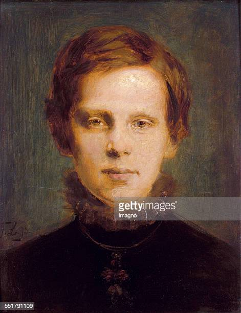Crownprince Rudolf Painting by Franz Lenabch Oil on Wood 1873