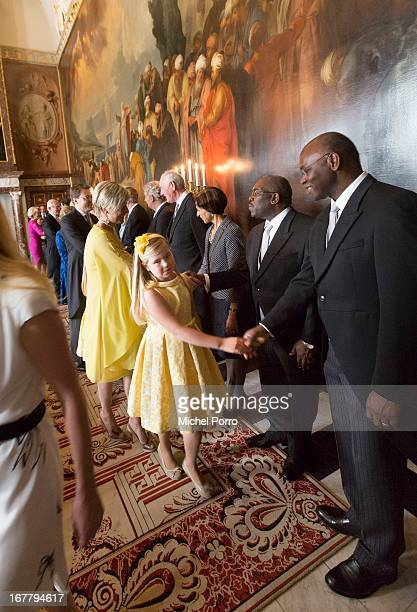 Crownprincess CatharinaAmalia of the Netherlands attends the Act of Abdication in the Moseszaal at the Royal Palace on April 30 2013 in Amsterdam...