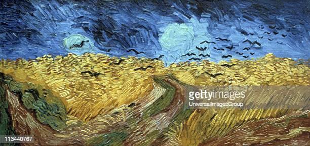 Crows 0ver Wheatfield' by Vincent Van Gogh Dutch painterOil on canvas Rijksmuseum Amsterdam