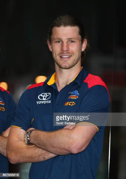 Crows recruit Bryce Gibbs poses following the AFL Draft Period at Etihad Stadium on October 19 2017 in Melbourne Australia