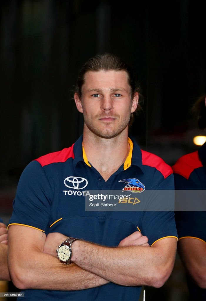 Crows recruit Bryce Gibbs poses following the AFL Draft Period at Etihad Stadium on October 19, 2017 in Melbourne, Australia.