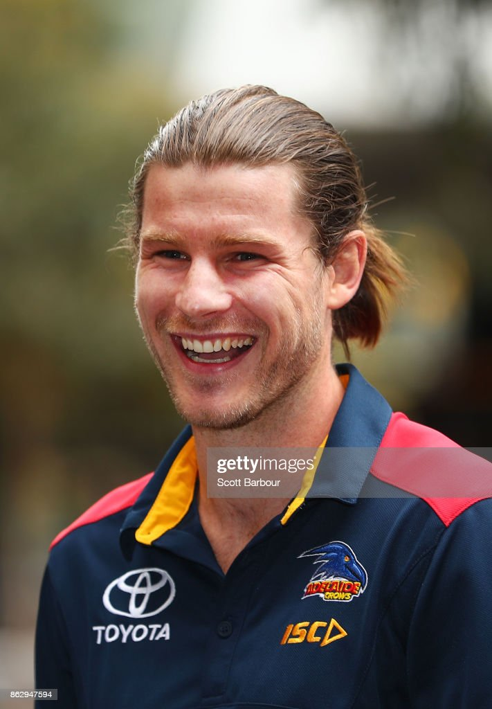 Crows recruit Bryce Gibbs smiles following the AFL Draft Period at Etihad Stadium on October 19, 2017 in Melbourne, Australia.