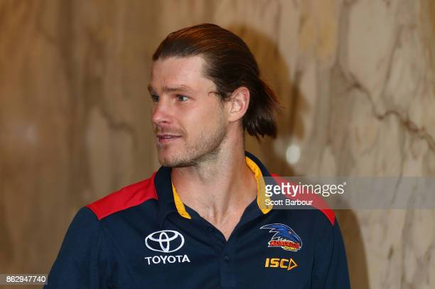 Crows recruit Bryce Gibbs smiles following the AFL Draft Period at Etihad Stadium on October 19 2017 in Melbourne Australia
