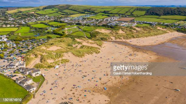 croyde beach, croyde, north devon, england, united kingdom, europe - gavin hellier stock pictures, royalty-free photos & images