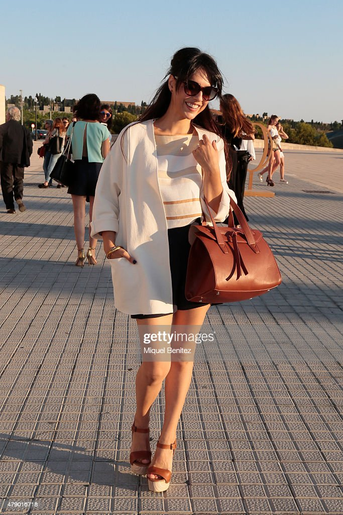 Crsitina Brondo attends the Mango fashion show at 'Barcelona 080 Fashion Autumn\Winter 2015-2016' at the Olympic Stadium of Barcelona on June 29, 2015 in Barcelona, Spain.
