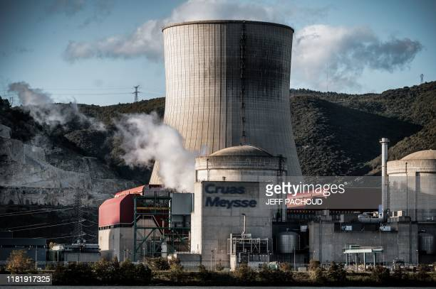 Cruas nuclear power plant is pictured on November 12 after an earthquake with a magnitude of 54 hit the area An unusually strong earthquake hit...