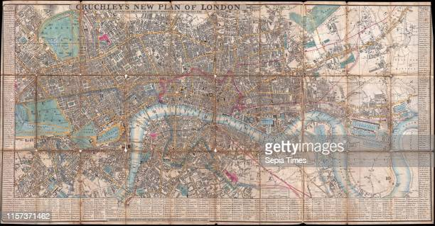 1849 Cruchley Pocket Map of London England