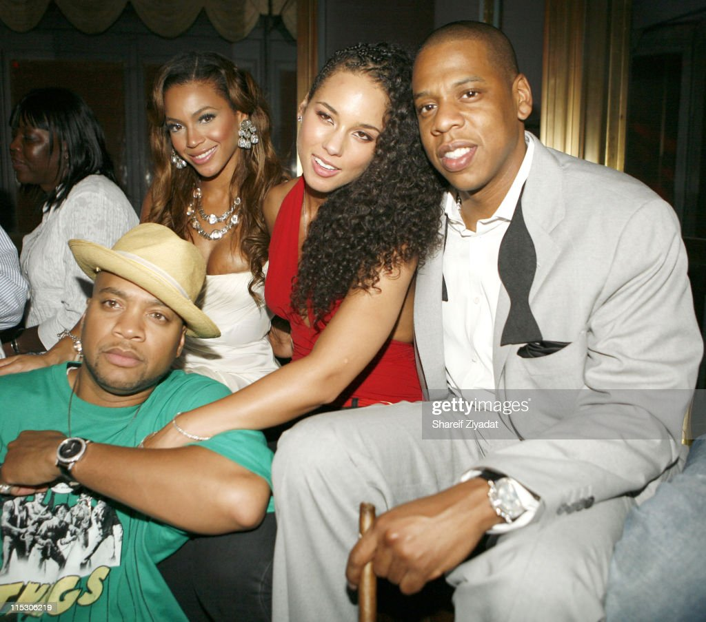 Crucial Keys, Beyonce Alicia Keys and Jay Z during Jay-Z Celebrates the 10th Anniversary of 'Reasonable Doubt' - Inside at Rainbow Room in New York, United States.