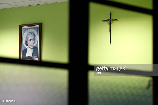 A crucifix hangs on the wall of a classroom in a school of the city of Burgos northern Spain on December 3 2009 Spain has taken the first step...