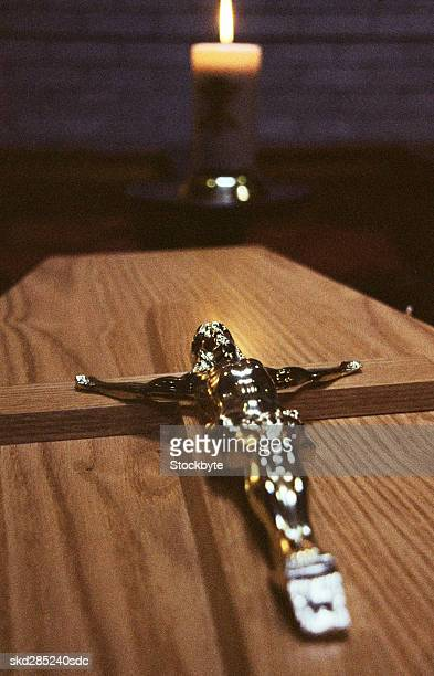 Crucifix on a coffin