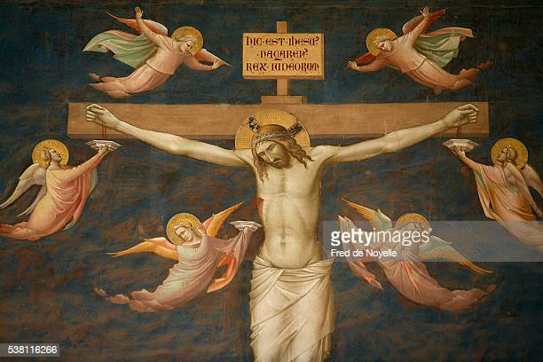 crucifixion by taddeo gaddi - ルネッサンス様式 ストックフォトと画像