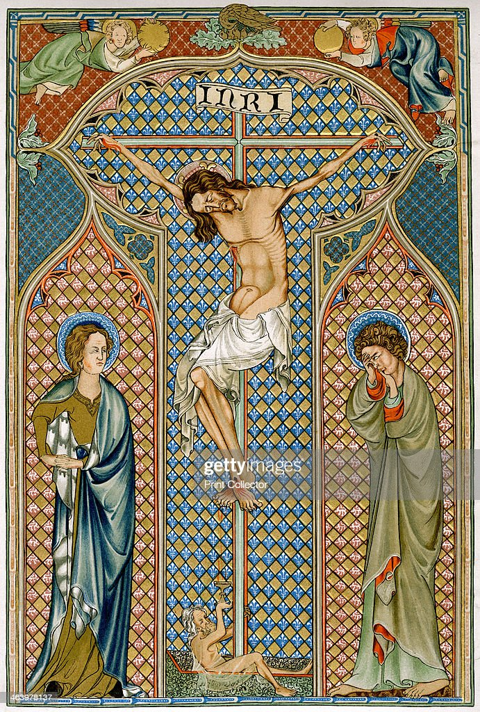 Crucifixion, early 14th century. : News Photo