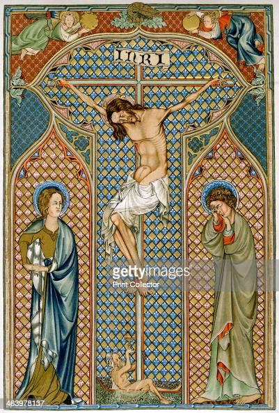 A 14th Century Cross Crucifixion, ea...