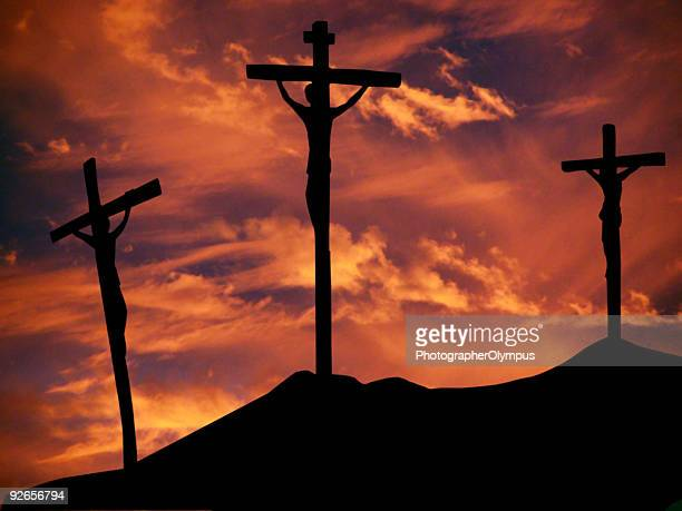 crucifixion - death and resurrection of jesus stock photos and pictures