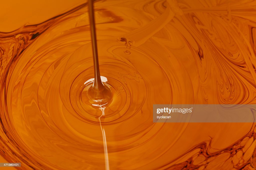 Crude Oil Dripping : Stock Photo
