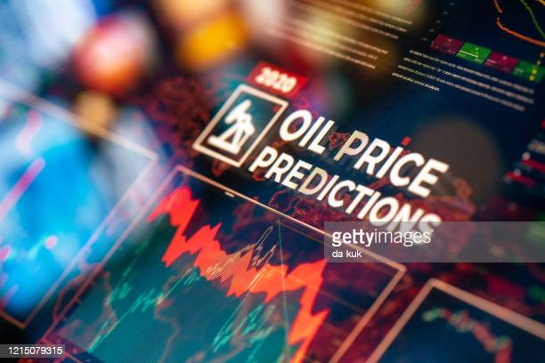crude oil price predictions - oil prices stock pictures, royalty-free photos & images