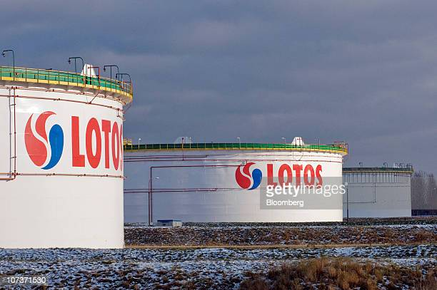 Crude oil storage tanks are seen at the Grupa Lotos SA oil refinery in Gdansk Poland on Monday Dec 6 2010 Russian companies such as OAO Gazprom's oil...