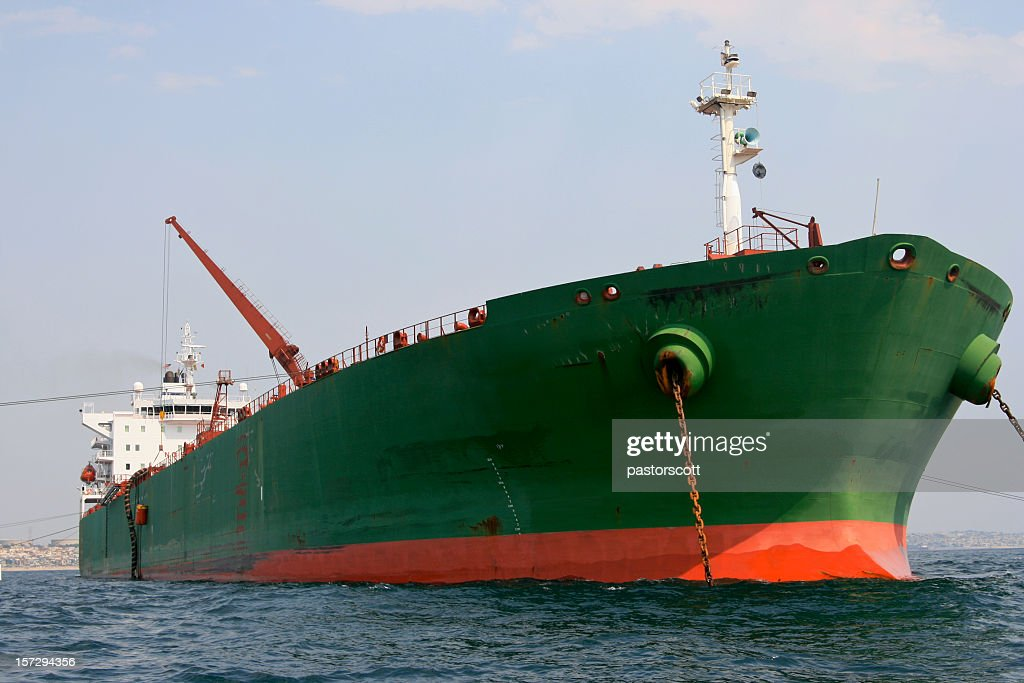 Crude Oil Tanker Front Bow's View : Stock Photo