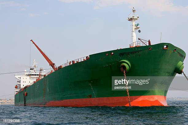 Crude Oil Tanker Front Bow's View