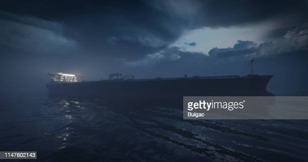 crude oil tanker - calm before the storm stock pictures, royalty-free photos & images
