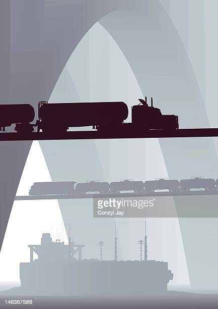 CGI of crude oil transportation vehicles