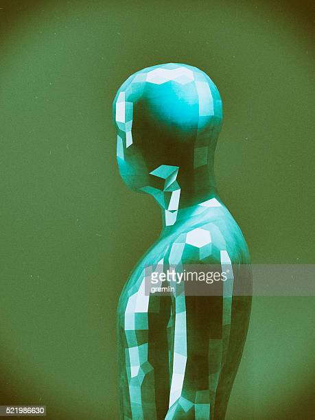 Crudely shaped humanoid figure